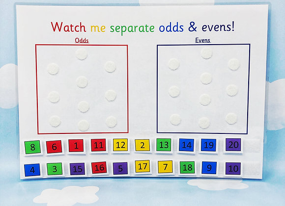 Odds and Evens - Learning Sheet - Numbers to 20 - KS1 - Numeracy