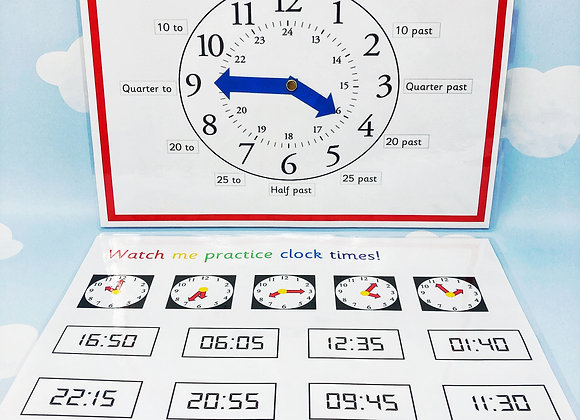 Teaching clock - Learning Sheet - KS2 - Matching Activities - Learn to tell time