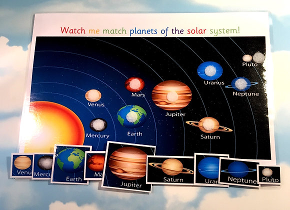 Planets Learning Sheet