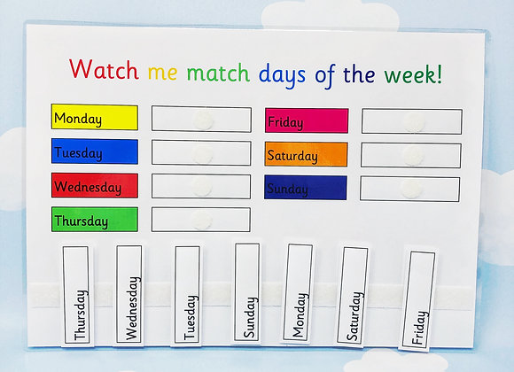 Learn Days Of The Week - Early Learners - Home Learning - Learning Sheet