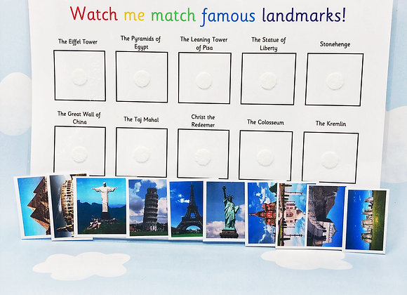 Famous Landmarks - World Landmarks - Wonders of the World - Learning Sheet