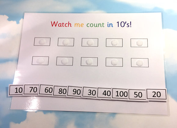 Counting in 10's up to 100