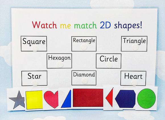Shape Matching - Learning Sheet - Shape Games - Learning Shapes