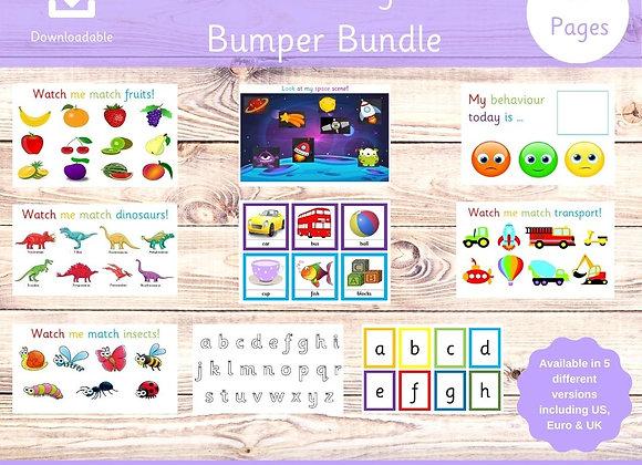 Preschool Busy Book Bundle - Nursery Bundle - Learning Resources - Toddler