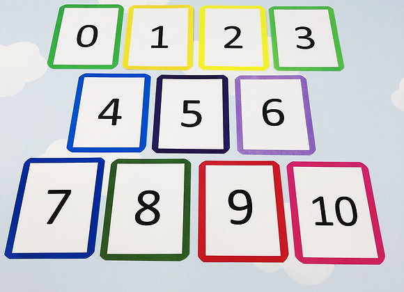 Numbers 0-10 Flash Cards