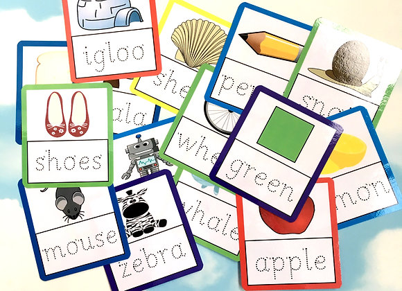 5 Letter Tracing Flash Cards