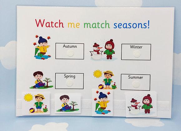 Learn Seasons - Learning Sheet - Instant Download - Nursery - Kindergarten