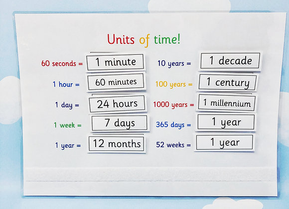 Units of Time - Learning Sheet - KS2 - Matching Activities - Measure Time
