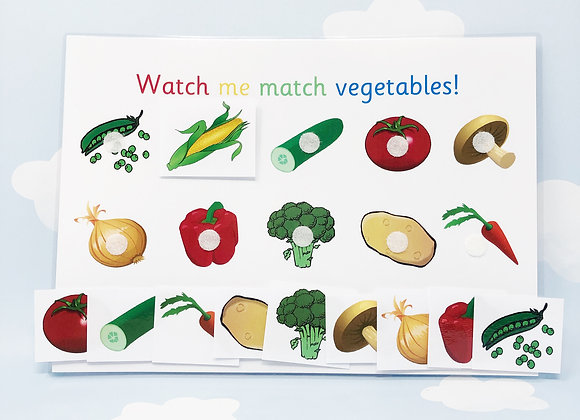 Vegetable Matching Activities - Learning Sheet - Downloadable - Nursery