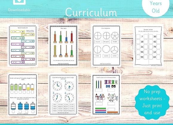 Year 1 Full Maths Curriculum - Printable worksheets - Key stage 1 maths