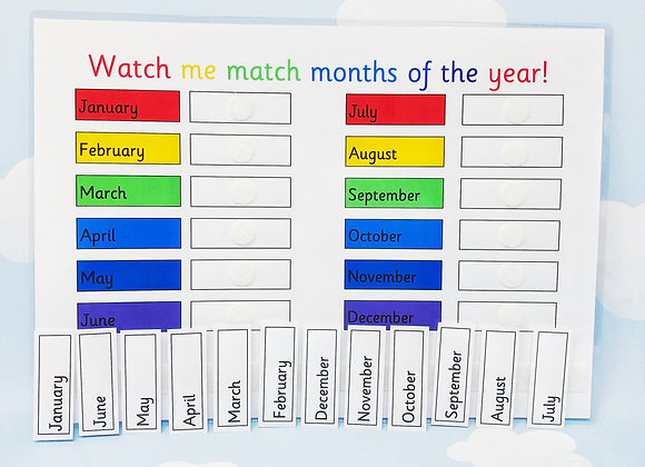 Learn Months of the Year - KS1 - Home Schooling - Reception Learning - Matching
