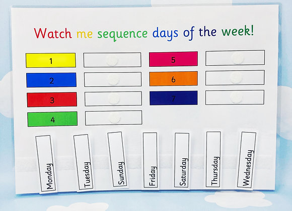 Sequence Days of the Week - KS1 - Early learners - Home Education