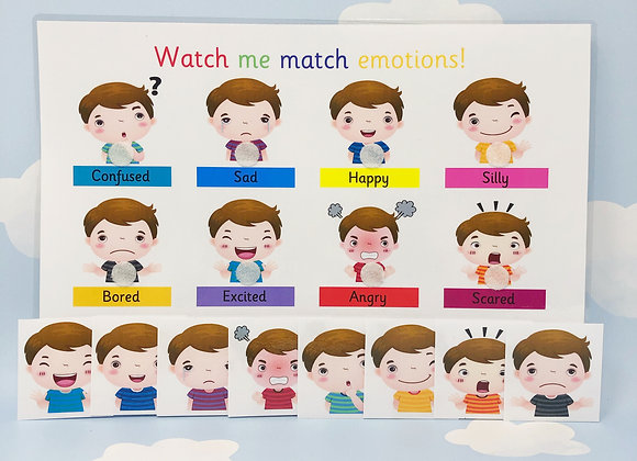 Emotions Learning Sheet - Feelings - Emotions - Autism - SEN - Emojis - ADHD