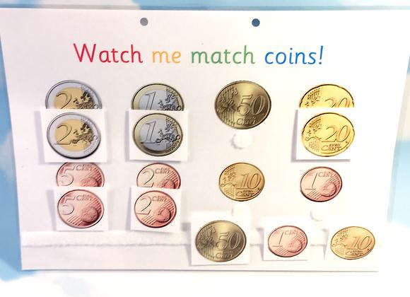 Euro Coin Matching Learning Sheet