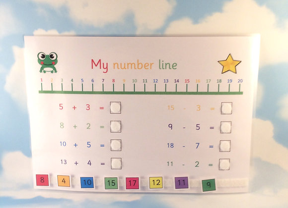 Number Line Learning Sheet