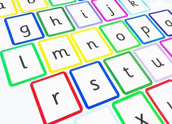 Lowercase Letters - Flashcards - Phonics - Alphabet - Literacy