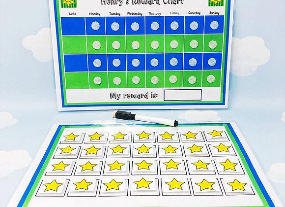 Blue Reward Chart