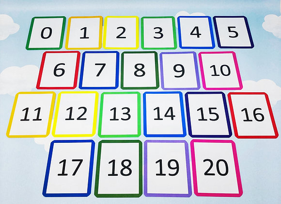 Number flash cards - Numbers to 20 - Teaching resource - Educational toy
