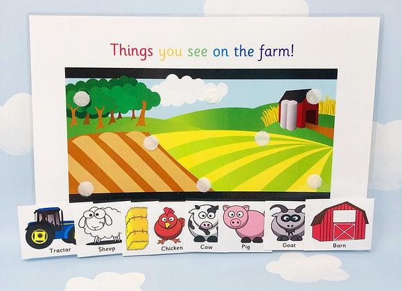 Farm Animals - Learning Sheet - Instant Download - Nursery - Preschool