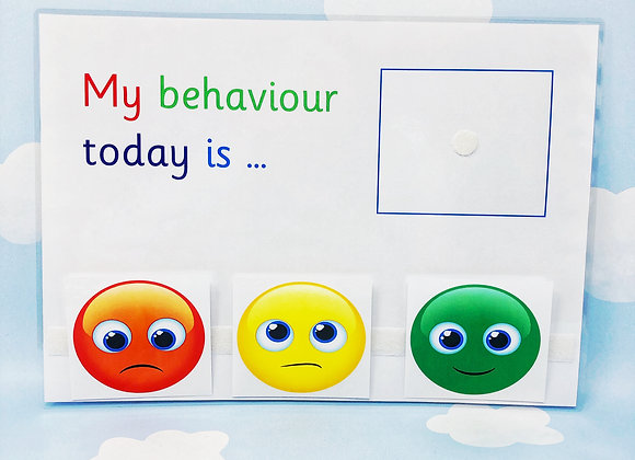 Printable Download - Behaviour Sheet - Learning Sheet - Print at home