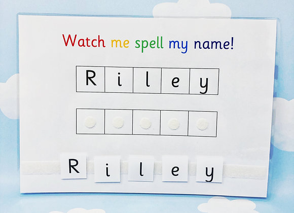 Spell My Name Learning Sheet