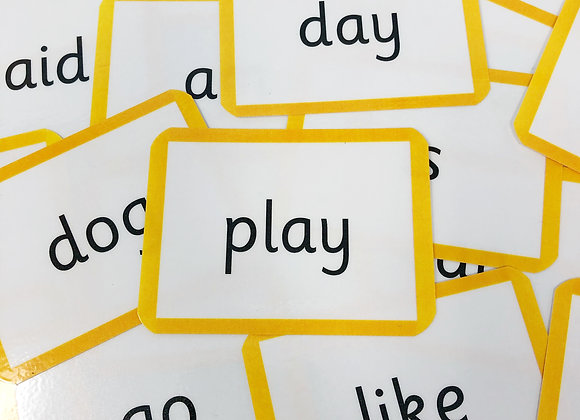 Reception High Frequency Flash Cards