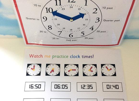 Clock Learning Sheet