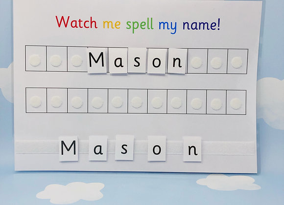 Name Spelling Sheet - Toddler Busy Book Printable - Activity Worksheets