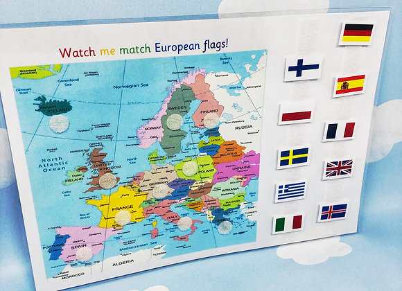 European Flags - Maps - Learning Sheet - KS2 - Geography Lesson - Year 3 - World