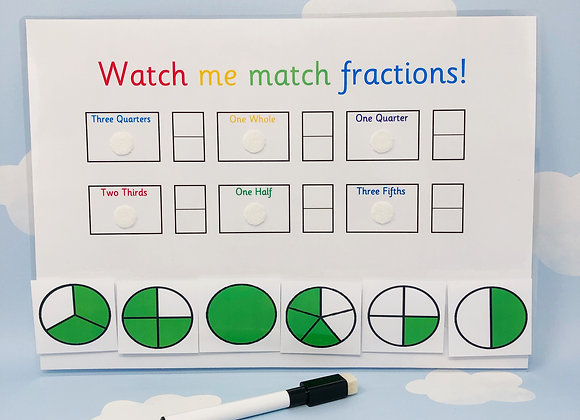 Fractions Learning Sheet - KS2 School - Maths Homework - Year 3 - Numeracy