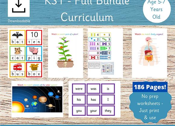 KS1 Full Activities Bundle - 186 Pages! Ages 5-7.