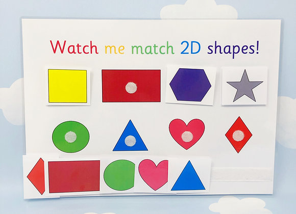 2D Shape Learning Sheet