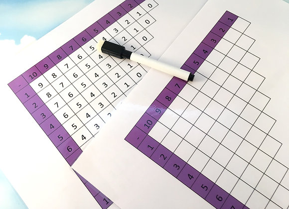 Subtraction Table Grid to 10