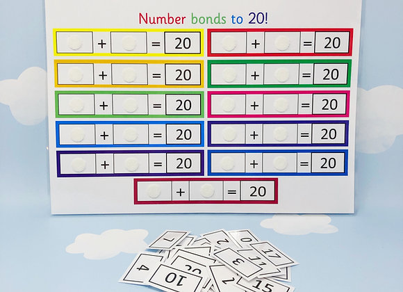 Number bonds to 20 - Learning Sheet - Learn Numbers - KS1 - Number Sentences