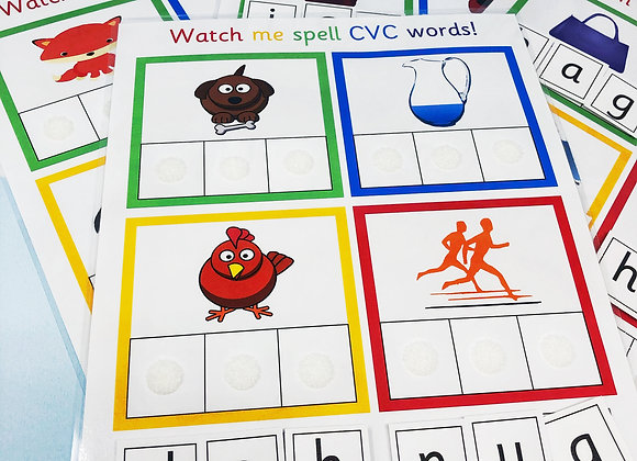 Phonics Learning Sheets - Beginning Sounds - CVC Words - Phonics - Speed Sounds