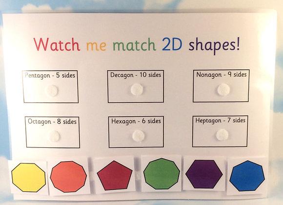 2D Shape Matching Learning Sheet