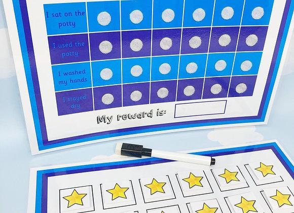 Potty Chart - Potty Training - Toilet Training - Reward Chart - Personalised