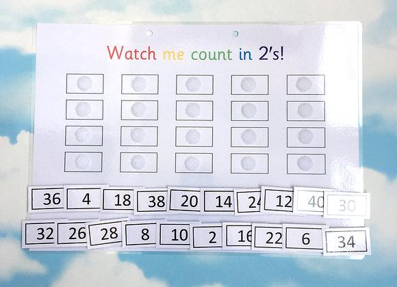 Counting in 2's up to 40