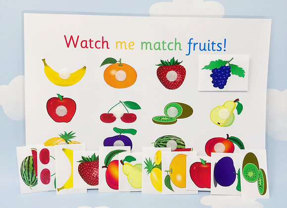 Fruits Learning Sheet - Healthy Eating - Downloadable - Nursery - Preschool