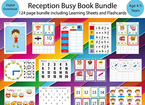Reception Busy Book Bundle - Starting School - Learn Phonics