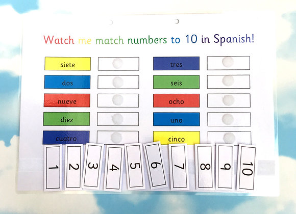 Spanish Number Words to 10