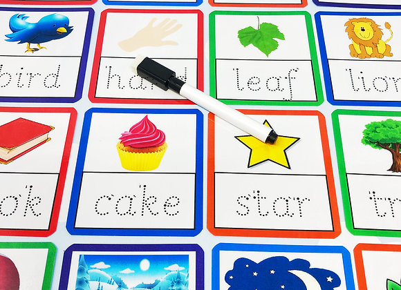 4 Letter Tracing Flashcards - Learn to Write - Starting School - Phonics