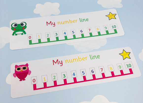 Number line to 10 - Maths aid - Numeracy - Reception - Teaching resource - EYFS