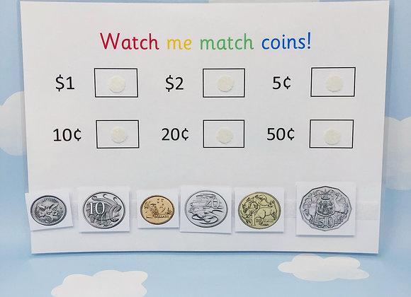 Australian Coins - Learn Coins - Learning Sheet - Money - Maths Games