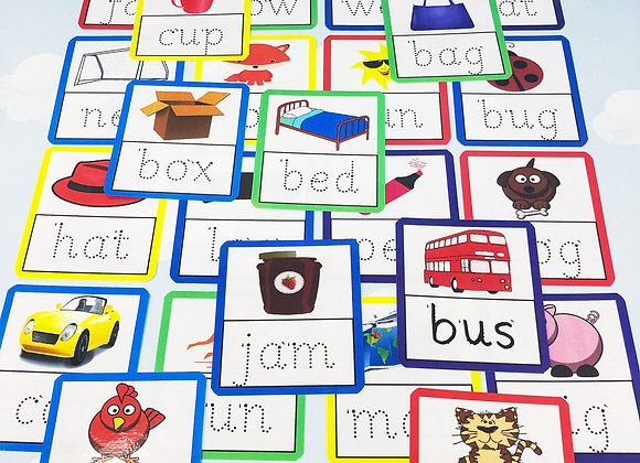 3 Letter Tracing Flashcards - Learn to Write - Starting School - Phonics