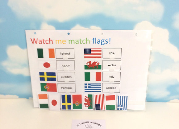 Flags Learning Sheets x2