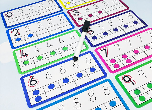 Printable Download - Number Tracing - Flashcards - Print at Home - Nursery