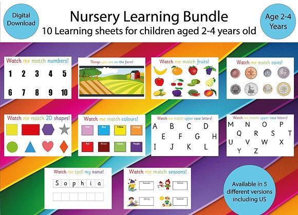 Nursery Binder US Version- Busy Book - Preschool Activities - Activity Binder