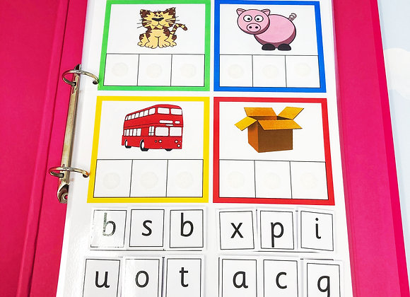 Beginners Phonics Learning Resources Folder Reception Angle 1