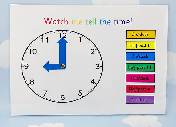 Telling the Time - Practice Clock - Teaching Clock - Learning Resource